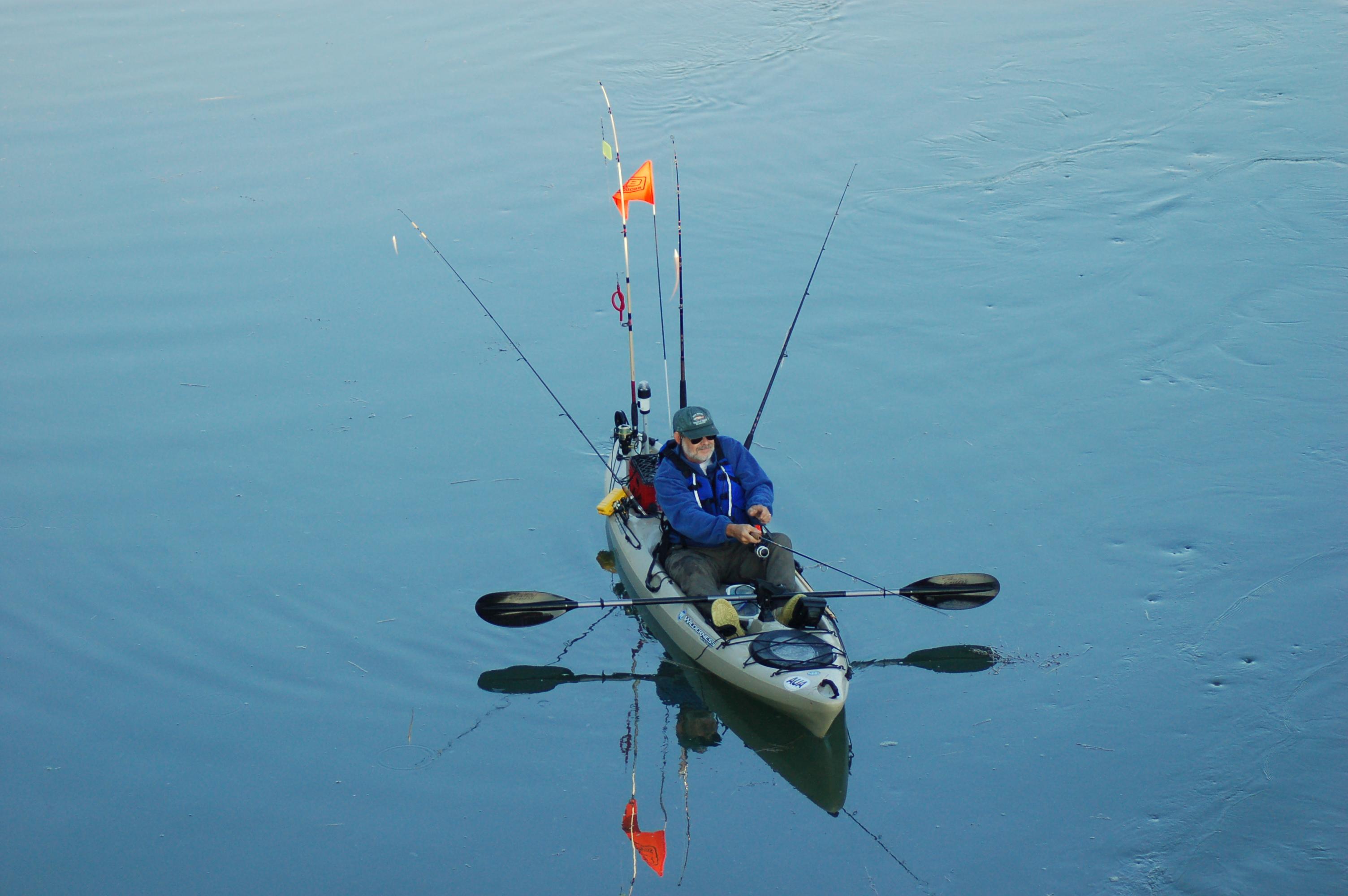 Kayak fishing tours seaspray brunswick maineseaspray for Fishing from a kayak